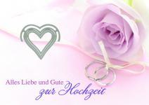 Hochzeitskarte mit Geldklammer, Alles Liebe... (6 Stck)