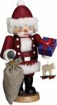 Nussknacker Weihnachtsmann 30 cm Holz-Figur Handarbeit aus Seiffen im Erzgebirge