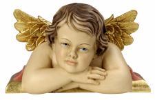 Putte Raffaello Engel auf Konsole Holzschnitzerei