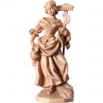 Heilige Notburga Holzfigur, geschnitzt gebeizt