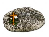 Stein Sinnspruch In stillem Gedenken 10, 5 cm