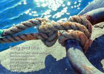 Postkarte Geknotetes Seil am Eisenring (10 Stck)