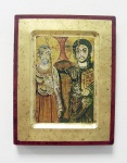 Freundschafts-Ikone Christus und Menas 16 x 20 cm