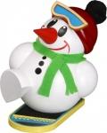 Räuchermännchen Cool-Man mit Snowboard, weiß 11 cm