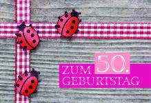 Geburtstagskarte Zum 50. Geburtstag (6 Stck)