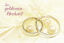 Hochzeitskarte Zur goldenen Hochzeit (6 Stck)