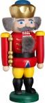 Nussknacker König rot 20 cm Holz-Figur Handarbeit aus Seiffen im Erzgebirge