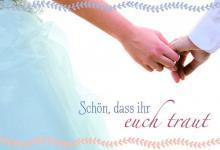 Hochzeitskarte Schön, dass ihr euch traut (6 Stck)