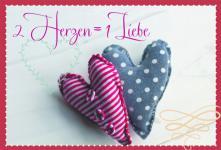 Hochzeitskarte 2 Herzen 1 Liebe (6 Stck)
