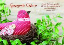 Osterkarte Gesegnete Ostern, Johannes 11 (10 Stck)