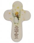 Kinderkreuz Der Engel Gottes wache.. Holz 15 cm