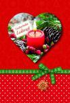 Weihnachtskarte mit Herzheft, Zauberhafte... (6 Stck)