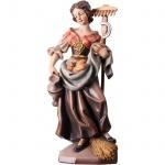 Heilige Notburga Holzfigur, geschnitzt antik handbemalt