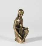 Maria mit Kind 20 cm Bronze Mutter Gottes
