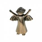 Schutzengel Engelchen, stehend Bronzefigur - 6 cm