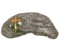 Stein Sinnspruch In stillem Gedenken 26, 5 cm
