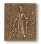 Namenstag Katharina Bronzeplakette 13 x 10 cm Namenspatron