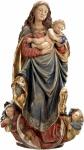 Mutter Gottes Maria Fränkisch Holz, geschnitzt handbemalt