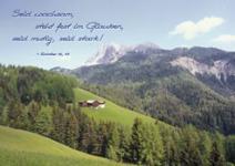 Postkarte Wald, Berge, Haus, Wiesen (10 Stck)