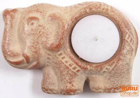 "Teelichthalter "" Elefant"" aus Keramik"