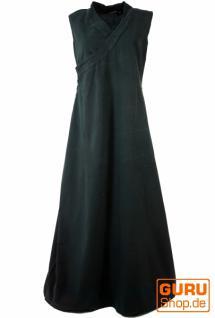 Wickelkleid Maxikleid langes Kleid Tibet schwarz