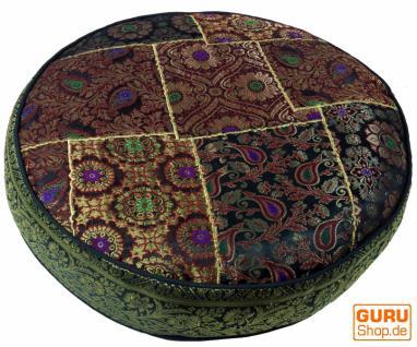 marokkanische sitzkissen aus leder rund kaufen bei l 39 artisan orientalische wohnkultur. Black Bedroom Furniture Sets. Home Design Ideas