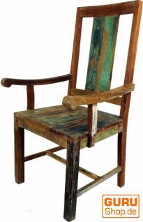 stuhl mit armlehne aus recycle holz im vintgage design. Black Bedroom Furniture Sets. Home Design Ideas