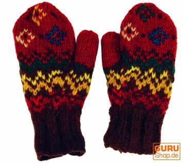 Handschuhe Fauster rot bunt