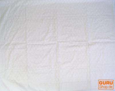 dünnes Tuch Sarong, Wandbehang, Wickelrock, Sarongkleid -weiß - Vorschau 2