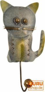 Kleine Blech Kleiderhaken `Katze`