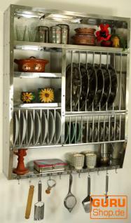 Indisches Edelstahl Küchenregal, Wandregal Miniküche