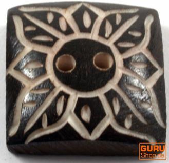 Tibet Knopf aus Horn - 16