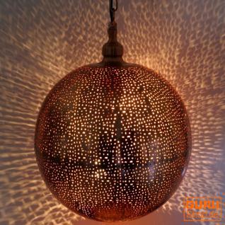 Orientalische Deckenleuchte Kugel Kupfer