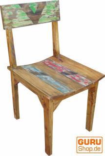 Teakholz Stuhl aus Recyclingholz