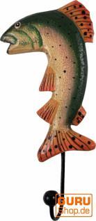 Bunter Holzkleiderhaken - Fisch