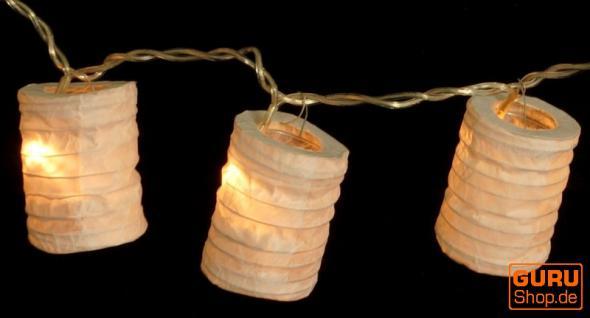 LED Lichterkette Lampions round natur