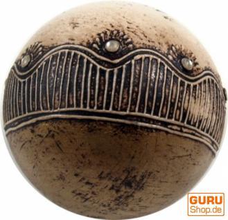 Dekokugel `Bagru` weiss-antik
