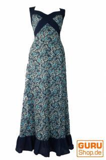 Sommerkleid, Maxikleid, Strandkleid blau weiß Flower Print
