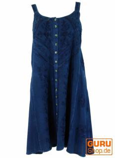 Besticktes Indisches Boho Kleid hippie chic blau