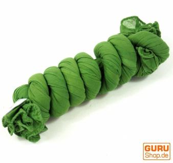 Indisches Baumwolltuch, Schal, Krinkelschal - grün - Vorschau 2