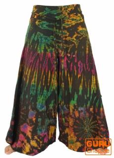 Batik Palazzohose Hosenrock Schlaghose Hippie Goa Hose