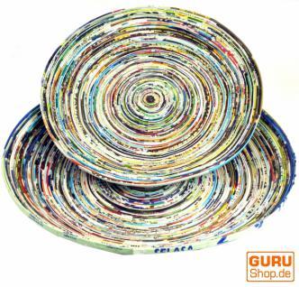 Upcyceling Schale, Teller aus Recyclingpapier