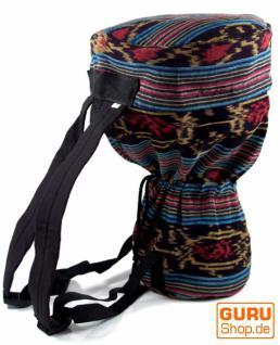 Trommel Tasche aus Ikat Stoff