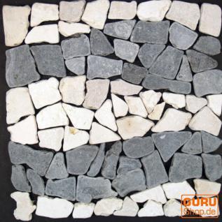 Wellenmuster Mosaik aus Marmor (Mc-07)