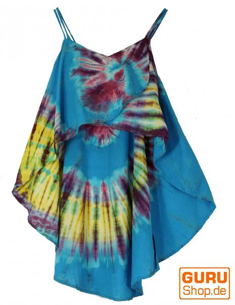 Weite Batik Tunika Hippie chic, Strandtunika