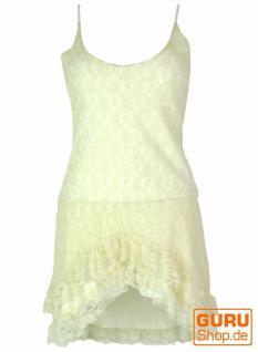 Psytrance Minikleid, Goa Elfen Kleid mit Spitze
