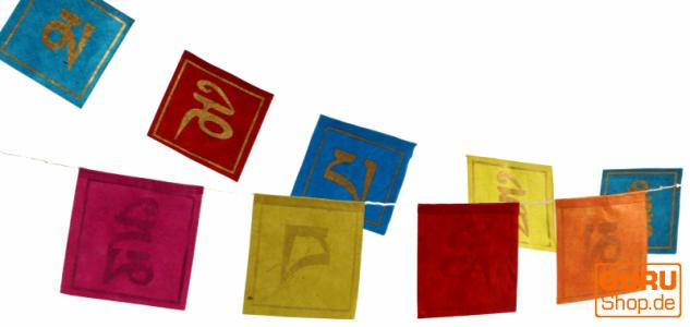 Gebetsfahne aus Papier-Mantra