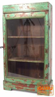 Antikgrüner Glasschrank Beistellschrank (JH1-001J)