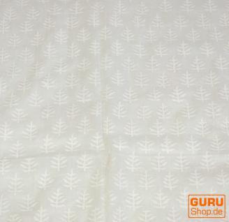 dünnes Tuch Sarong, Wandbehang, Wickelrock, Sarongkleid -weiß - Vorschau 3