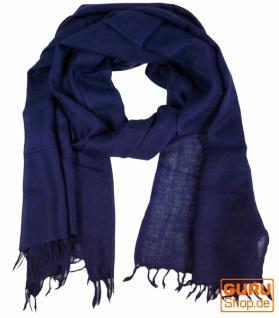 Indischer Schal, feiner Wollschal blau - Vorschau 1